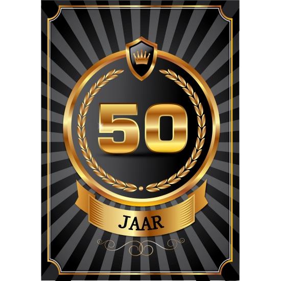 Luxe 50 jaar thema deurposter