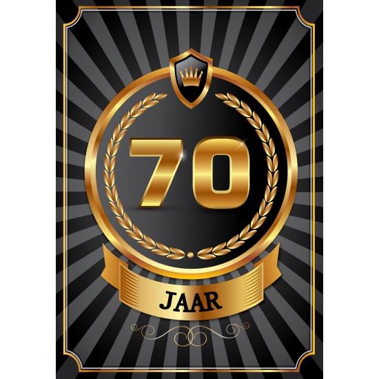 Luxe 70 jaar thema deurposter
