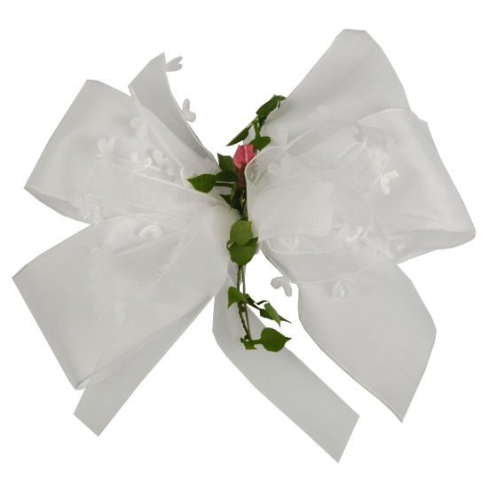 Luxe cadeaustrik wit