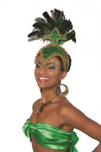 Luxe hoofdtooi groen voor dames