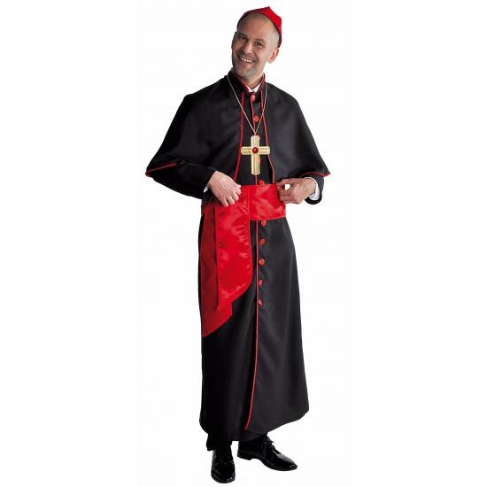 Luxe Kardinaals kostuum zwart
