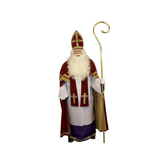 Luxe Sinterklaas krul staf