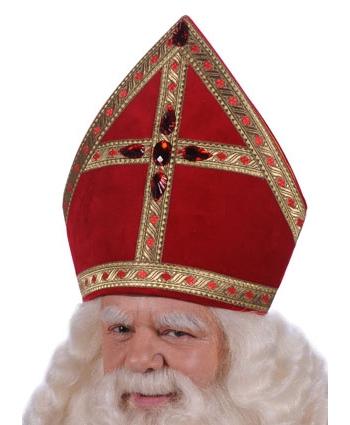 Luxe Sinterklaas mijter voor volwassenen