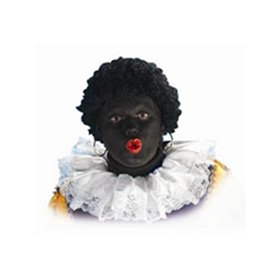 Luxe Zwarte Piet kragen van stof