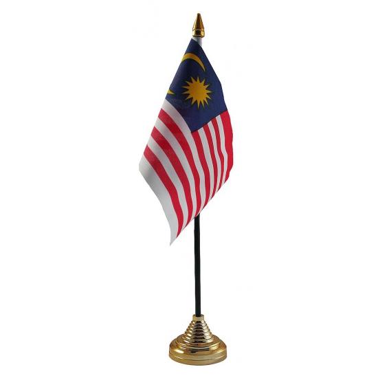 Maleisiaanse tafelvlag met standaard