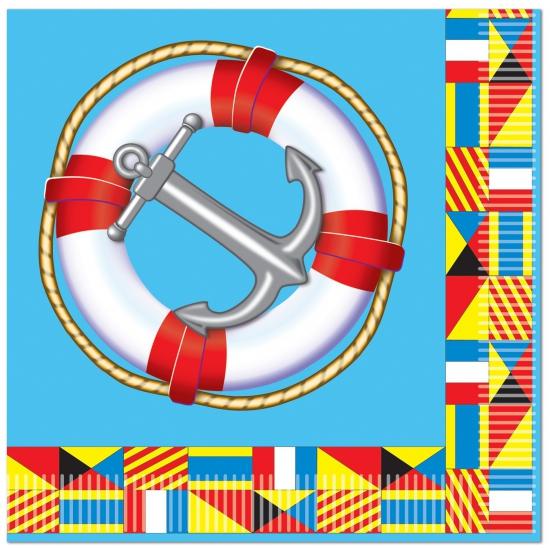 Marine thema servetten 16 stuks