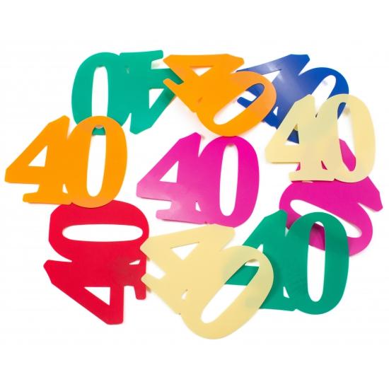 Mega confetti 40 jaar gekleurd