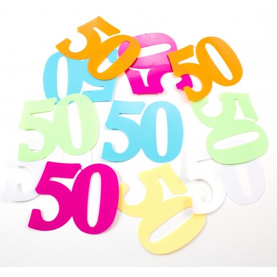 Mega confetti 50 jaar gekleurd