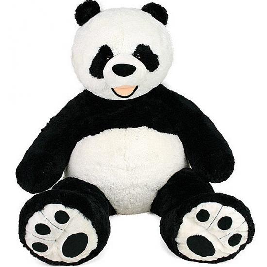 Mega panda knuffel met kraalogen 150 cm