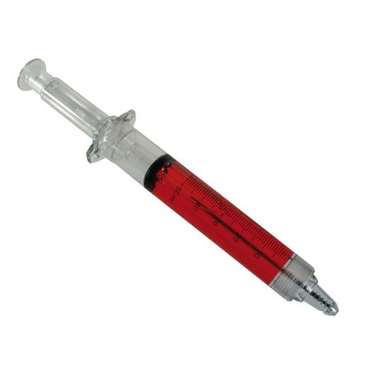 Mega pen in de vorm van injectienaald