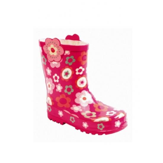 Meisjes laarzen roze met bloemetjes