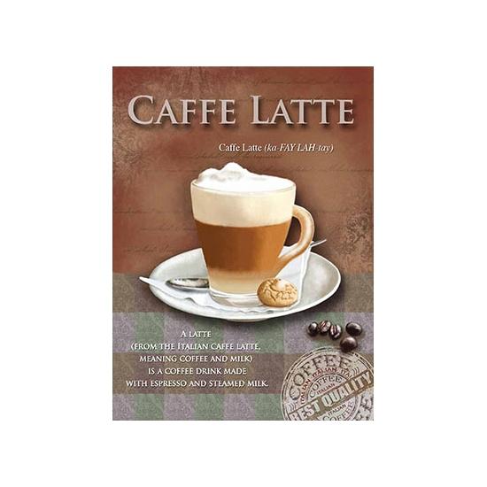 Metalen muurplaat Caffe Latte 30 x 40 cm