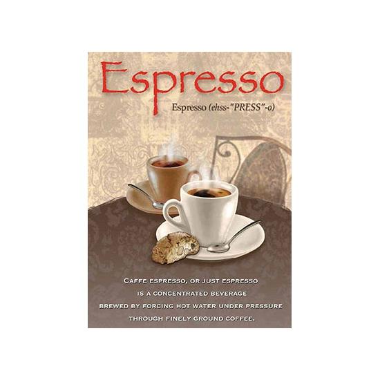 Metalen muurplaat Espresso 30 x 40 cm