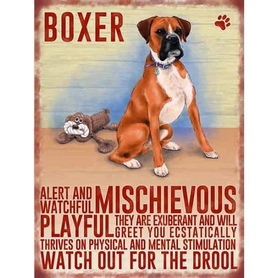 Metalen plaat Boxer