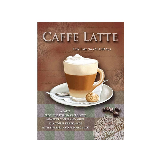 Metalen plaat Caffe Latte