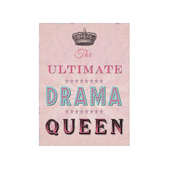 Metalen plaat Drama Queen