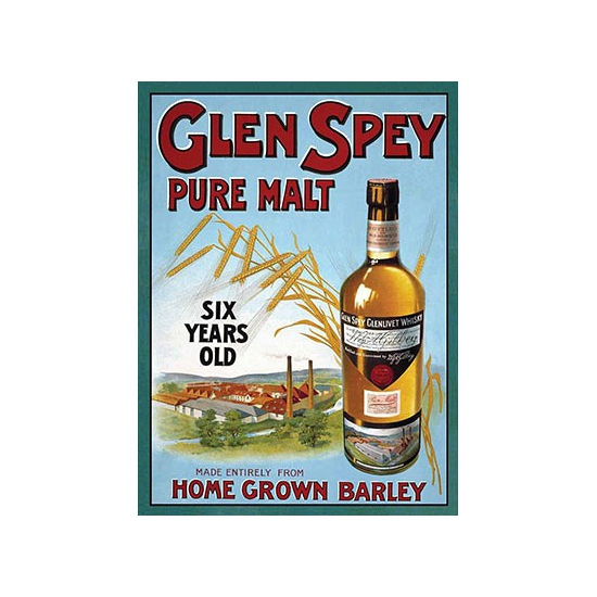 Metalen plaat Glen Spey Whiskey
