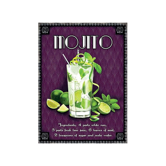 Metalen plaat Mojito cocktail