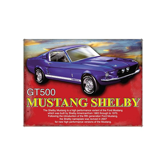 Metalen plaat Mustang Shelby