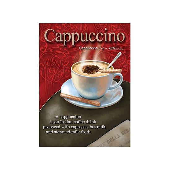 Metalen plaatje Cappuccino