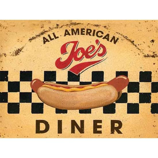 Metalen platen American Diner