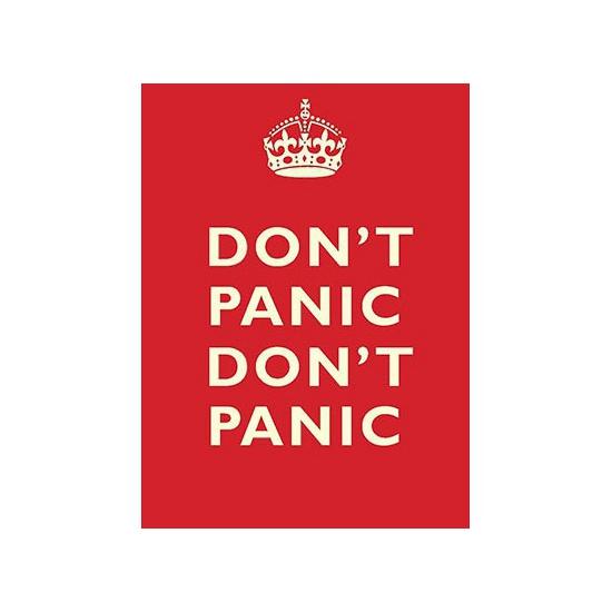 Metalen platen Don t Panic