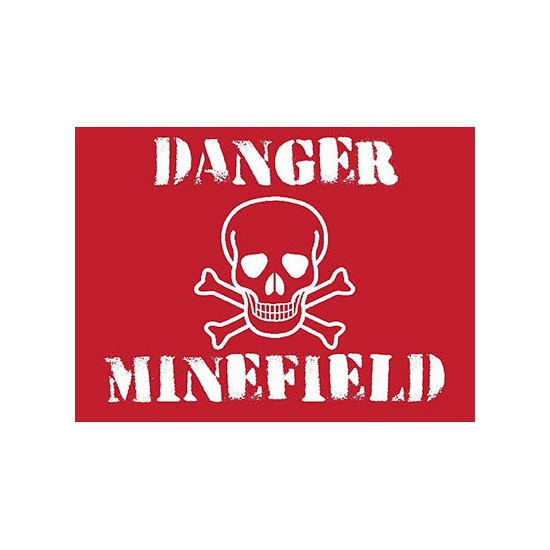 Metalen platen Minefield