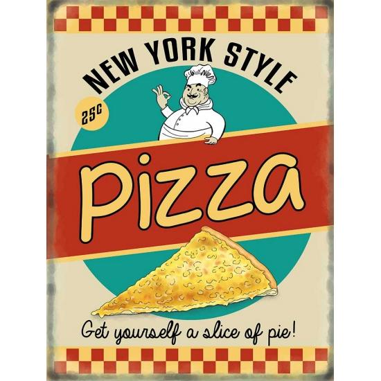 Metalen platen Pizza NY Style