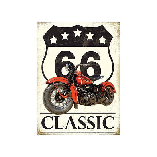 Metalen platen Route 66 Classic