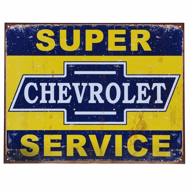 Metalen wandplaat Chevrolet Service 32 x 41 cm
