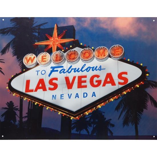 Metalen wandplaat Las Vegas