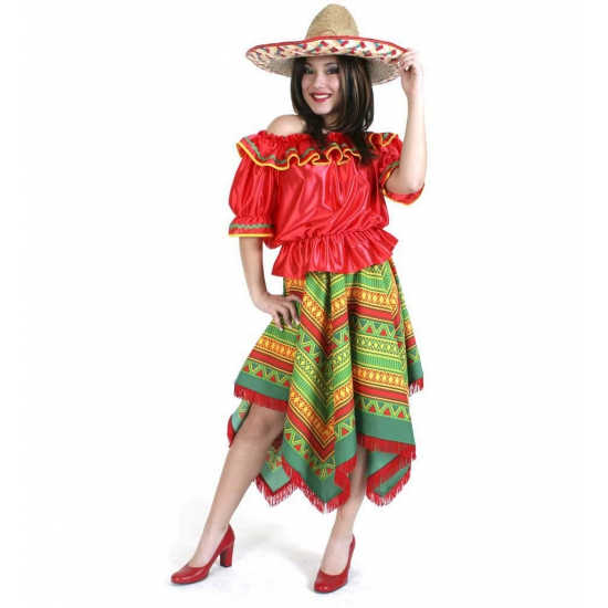 Mexico shirt en rok voor dames