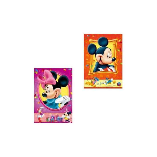 Mickey en Minnie Mouse kaarten 6 stuks