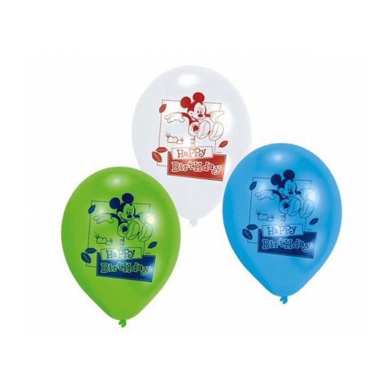 Mickey Mouse birthday ballonnen 6 stuks