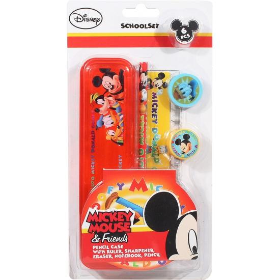 Mickey Mouse school schrijfwaren in etui 6 delig