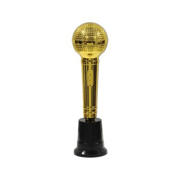 Microfoon award goud 23 cm