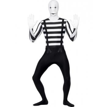 Mime artiest second skin kostuum