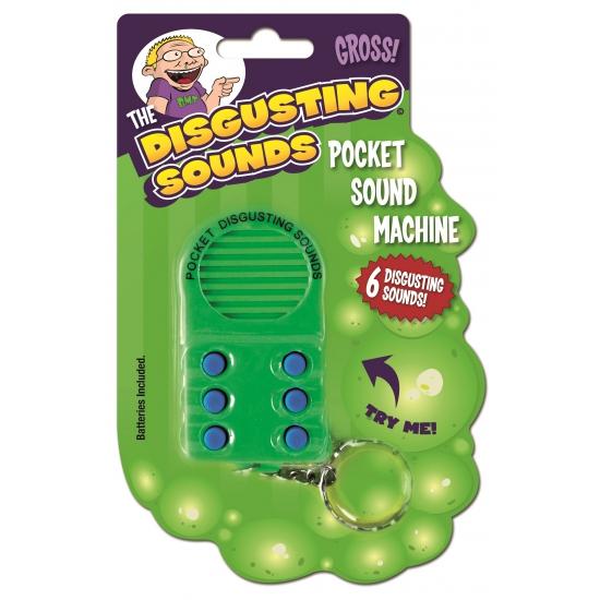 Mini geluidsmachine met 6 verschillende vieze geluiden