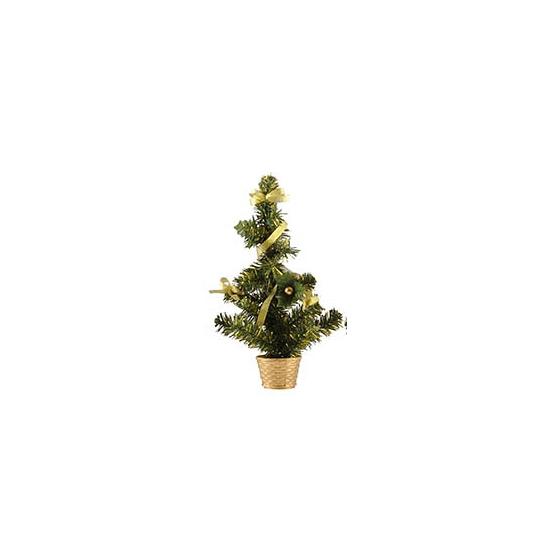 Mini kerstboompje goud 36 cm