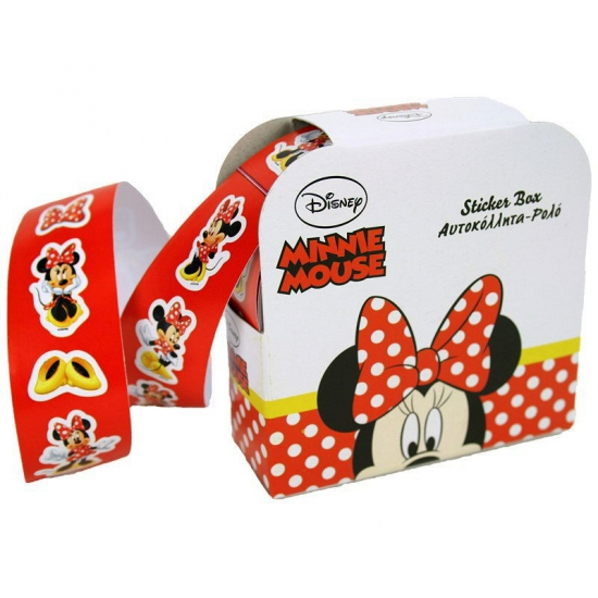 Minnie Mouse sticker rol 150 stuks