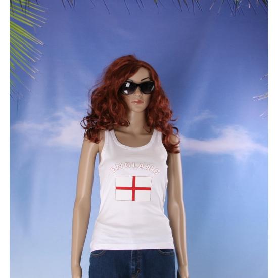 Mouwloos shirt met vlag Engeland print voor dames