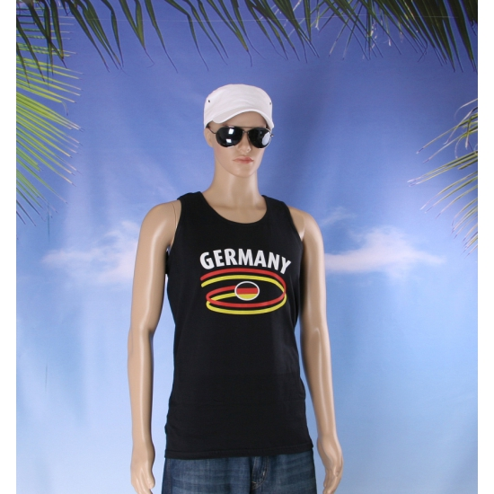 Mouwlose shirts met Duitsland print heren