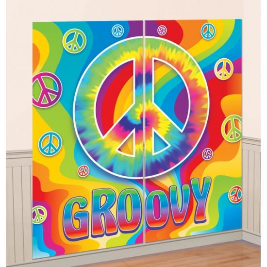 Muurdecoratie jaren 60 hippie feest