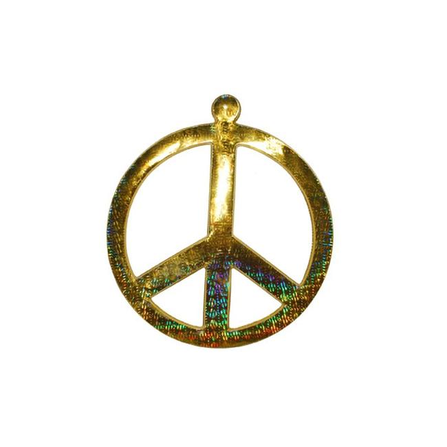 Muurdecoratie peace teken goud