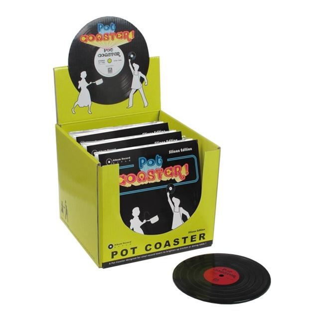 Muziek plaat LP pannen onderzetter