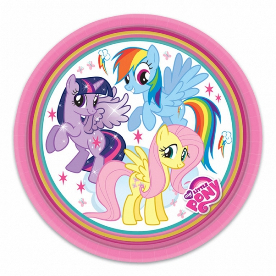 My Little Pony thema feest bordjes