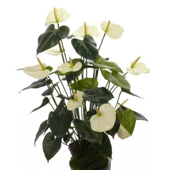 Namaak plant witte Anthurium 80 cm