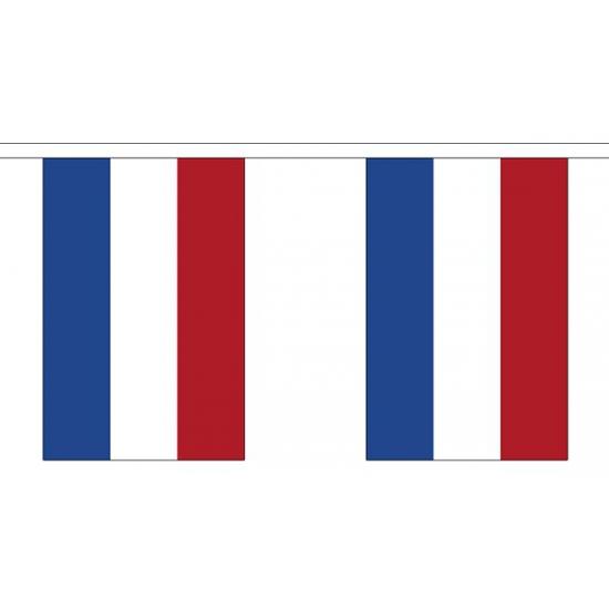 Nederland vlaggenlijn van stof 3 m
