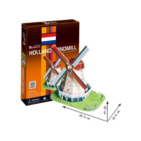Nederlandse molen 3D puzzel