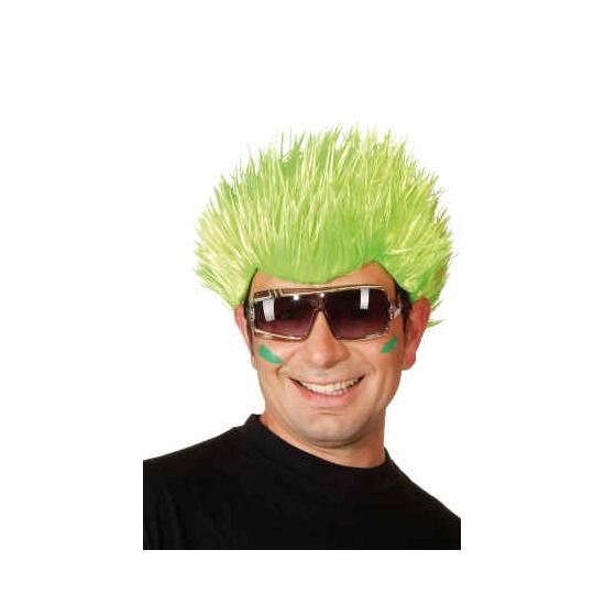 Neon groene pruik voor volwassenen